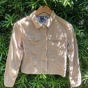 🧥EUC Gap Kids beige velvet jacket